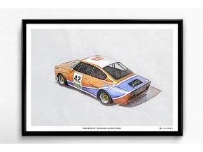 """Škoda 130 RS """"42 / Donington 1981"""" - plakát, obraz na zeď"""