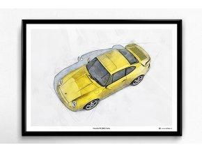 Porsche 911 (993) Turbo - plakát, obraz na zeď