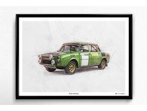 Škoda 120 S Rallye - plakát, obraz na zeď