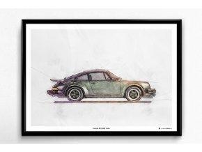 Porsche 911 (930) Turbo - plakát, obraz na zeď