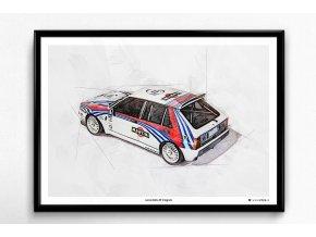 Lancia Delta HF Integrale Martini - plakát, obraz na zeď