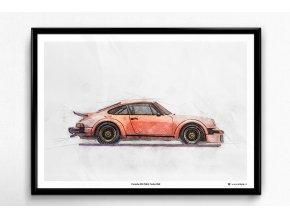 Porsche 911 (934) Turbo RSR - plakát, obraz na zeď