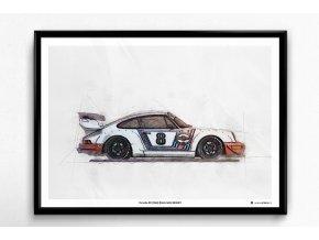 Porsche 911 (964) RWB - plakát, obraz na zeď
