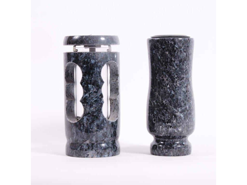 Váza a svítilna - Blue pearl (S1, V2)