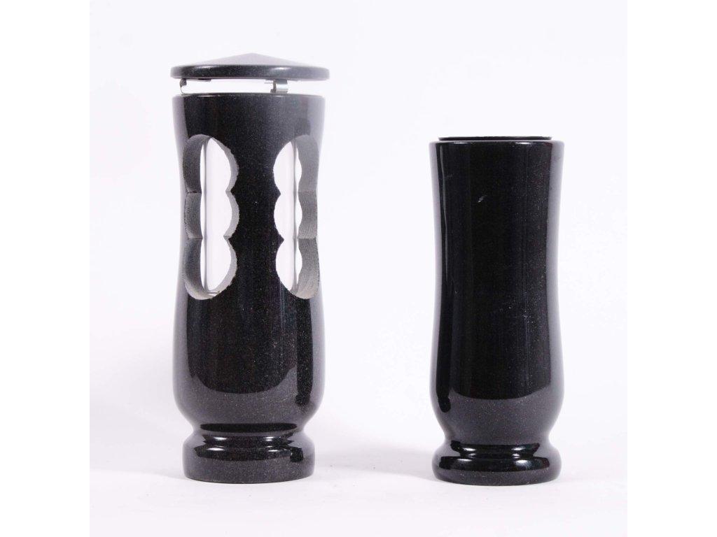 Váza a svítilna - Černá žula (S2, V2) delší