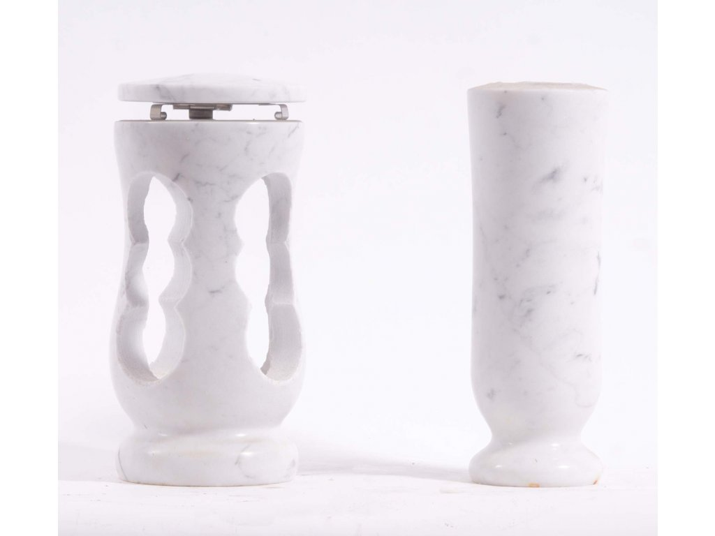Váza a svítilna - Bianco Carrara (S2, V2)