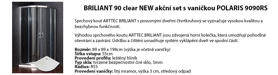 BRILIANT 90 clear NEW akční set s vaničkou POLARIS 9090RS