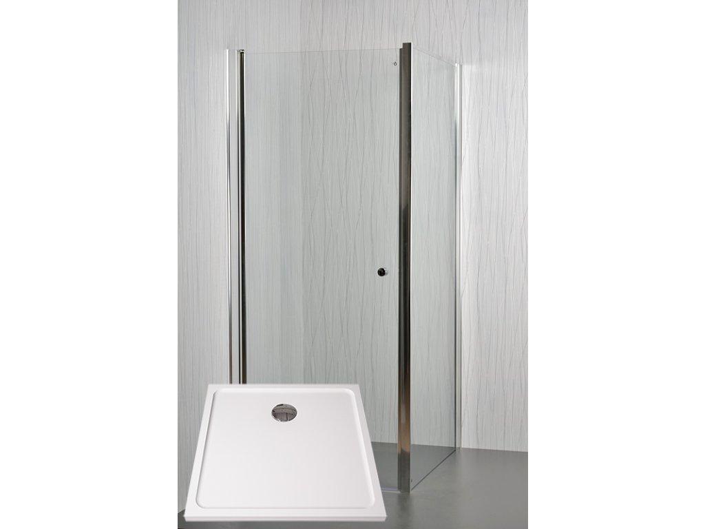 Sprchový kout MOON s vaničkou POLARIS 80 x 80 x 195 cm