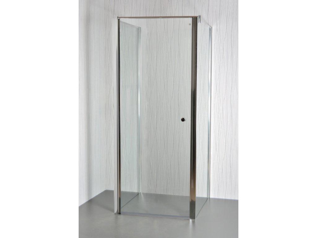 ARTTEC MOON B12 - Sprchový kout nástěnný clear 75 - 80 x 76,5 - 78 x 195 cm