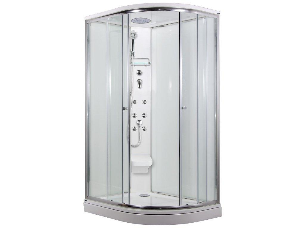 SIRIUS sprchový masážní box model 5 strop sedátko Levý