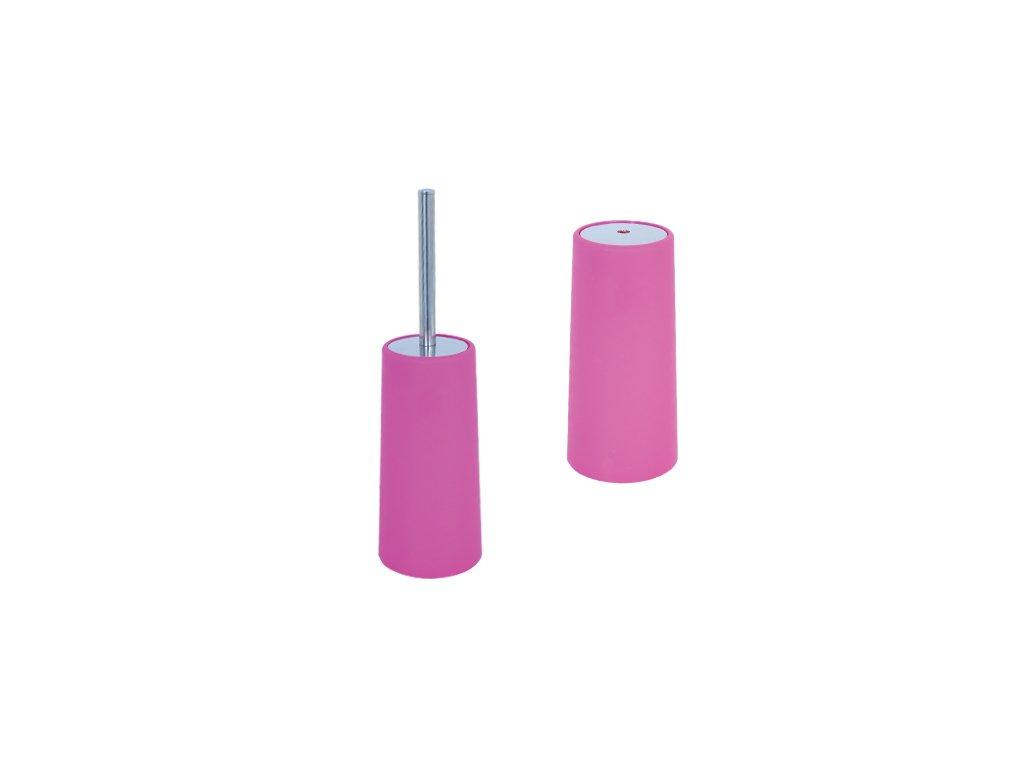 WC štětka - plast + nerez - pink