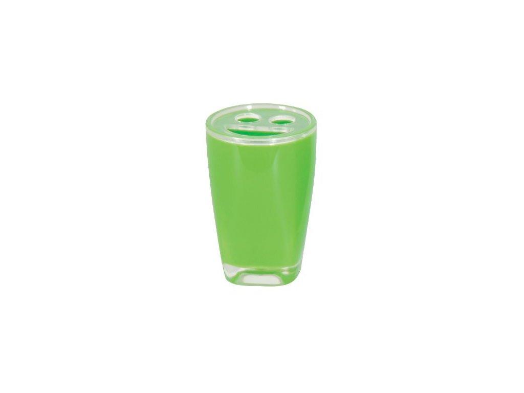 Kelímek na kartáčky a pastu - TAHITI - plast - green