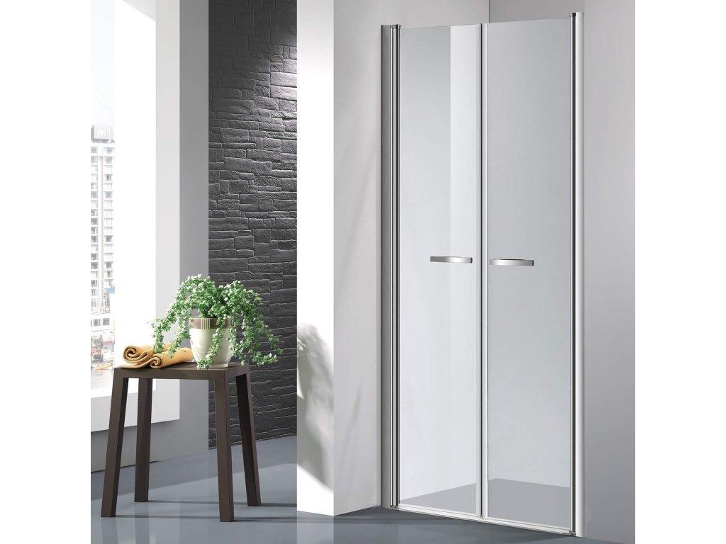 COMFORT 106-111 cm clear- Sprchové dveře do niky, dvoukřídlé dveře