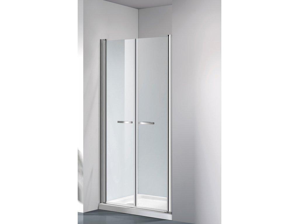 COMFORT 116 -121 cm clear- Sprchové dveře do niky, dvoukřídlé dveře