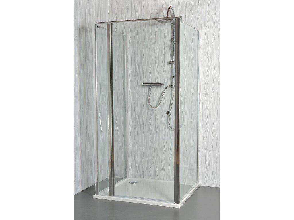 MOON E15 - Sprchový kout nástěnný clear 106 - 111 x 76,5 - 78 x 195 cm