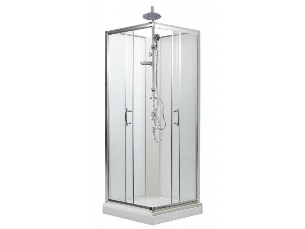 Smaragd 80 sprchový box 80 x 80 cm sprchový set