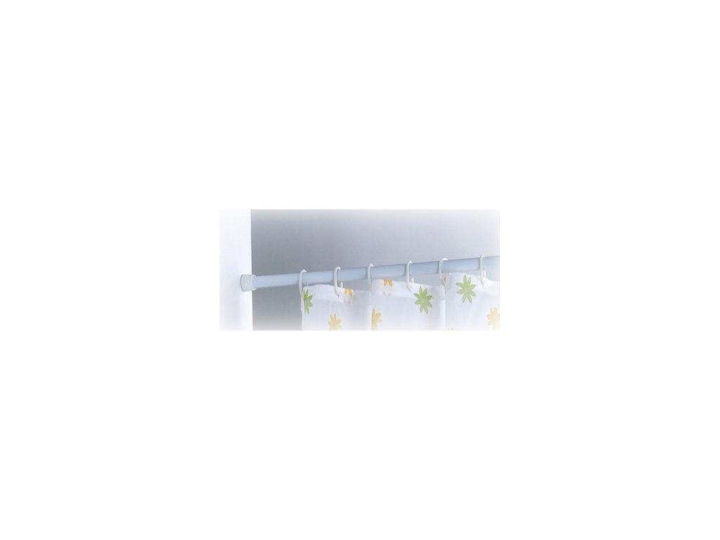 Háčky pro sprchové závěsy - set 12 ks - white