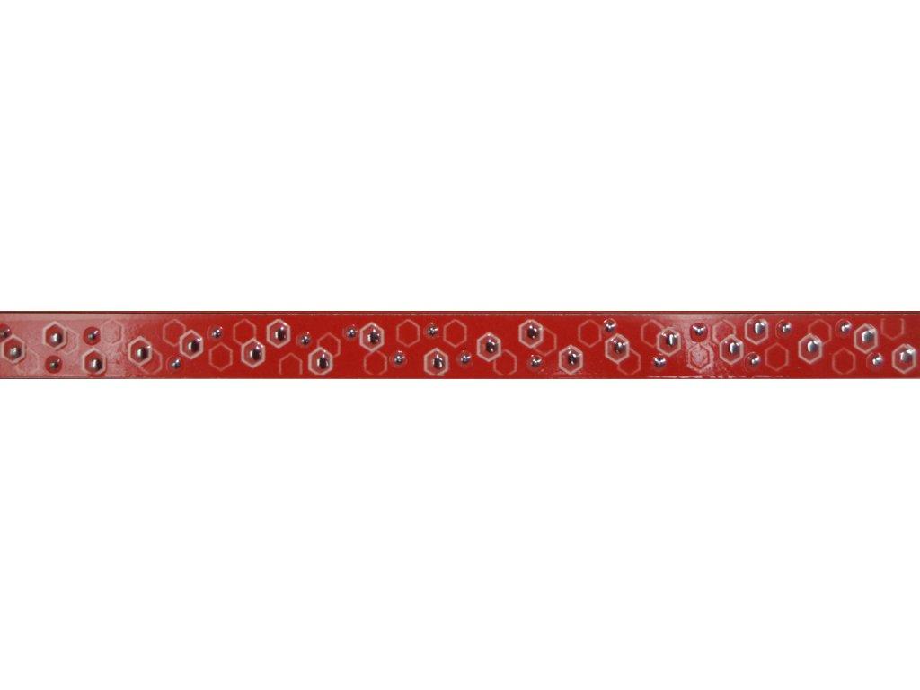 HEXAGON slim listello red - Listela 3x50 cm