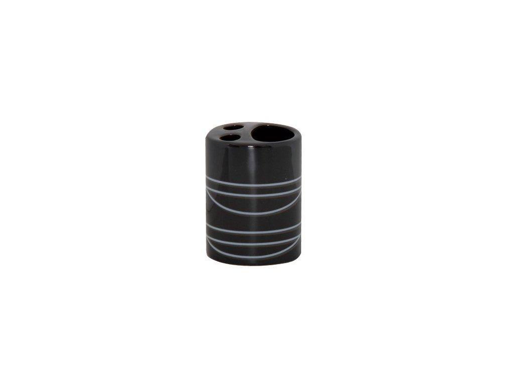 Kelímek na kartáčky a pastu - keramika - black