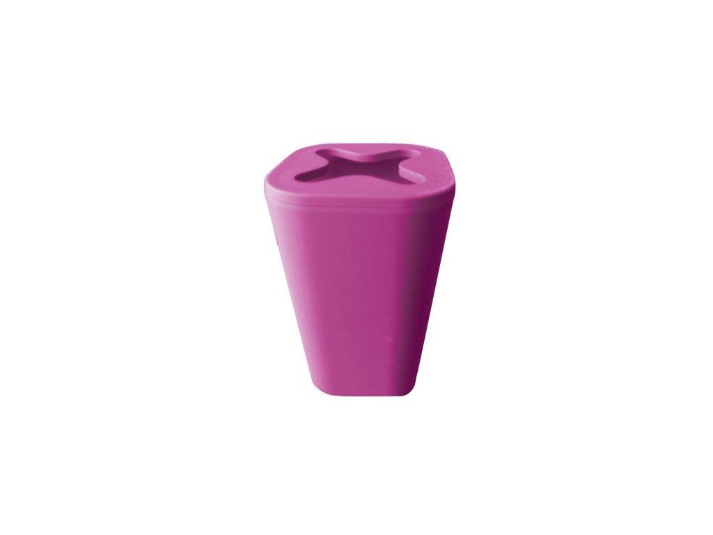 Kelímek na kartáčky a pastu - MONACO - plastic + rubber - purple