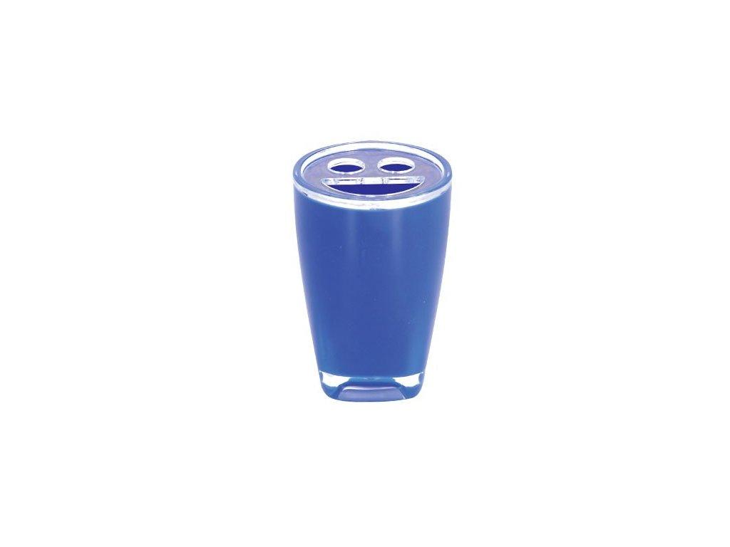 Kelímek na kartáčky a pastu - TAHITI - plast - blue