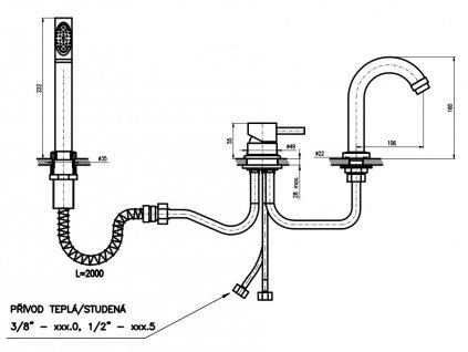 Baterie vanová stojánková 269