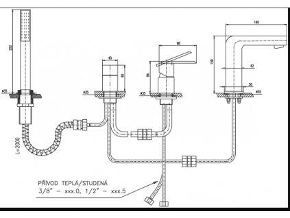 Baterie vanová stojánková 565