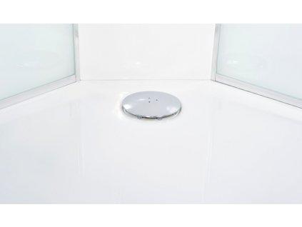 Parní box Briliant 90 x 90 cm vanička, sklo matné, česká výroba