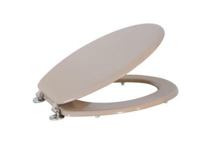 WC sedátko - MDF - 42,5x36,5x1,6 cm - nerez panty - sand