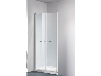 COMFORT 76-81 cm clear- Sprchové dveře do niky, dvoukřídlé dveře
