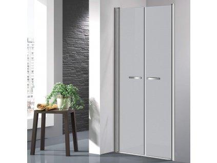 COMFORT 76-81 cm grape- Sprchové dveře do niky, dvoukřídlé dveře
