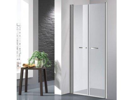 COMFORT 111-116 cm clear- Sprchové dveře do niky, dvoukřídlé dveře