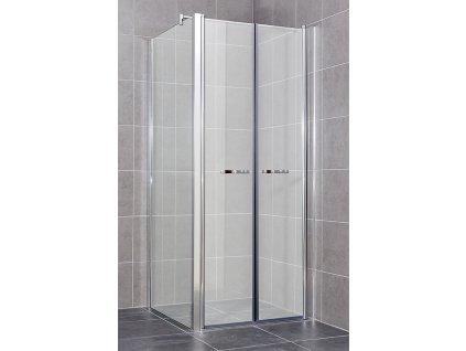 COMFORT A1- Sprchový kout clear 71 - 76 x 86,5 - 89 x 195 cm, dvoukřídlé dveře