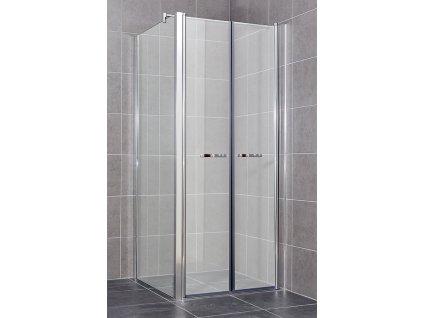 COMFORT A12- Sprchový kout clear 76 - 81 x 76,5 - 79 x 195 cm, dvoukřídlé dveře