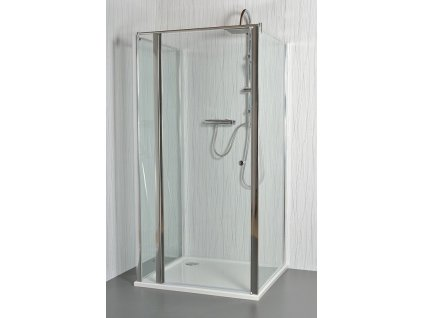 MOON E14 - Sprchový kout nástěnný clear 101 - 106 x 76,5 - 78 x 195 cm