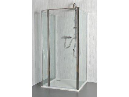 MOON E12 - Sprchový kout nástěnný clear 91 - 96 x 76,5 - 78 x 195 cm