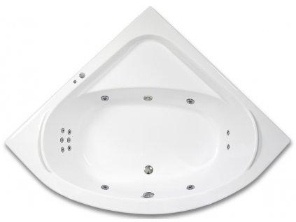 ARTTEC GAIA 2 SURF 140 x 140 hydromasážní akrylátová vana  + Černé mýdlo tekuté