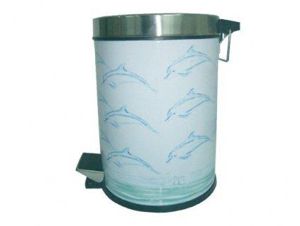 Koš odpadkový - 5 l - kov + nerez - dolphin