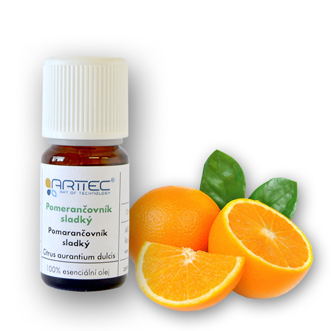 ARTTEC Pomerančovník sladký bio Esenciální olej 10 ml NAT00017