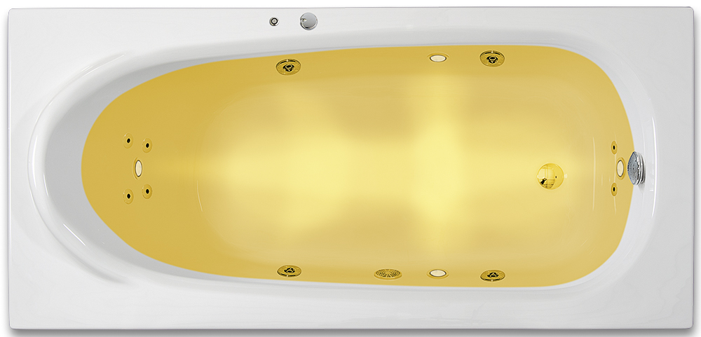 ARTTEC RHEY SURF + CHROMO 160 x 75 cm Hydromasážní akrylátová vana PAN04373