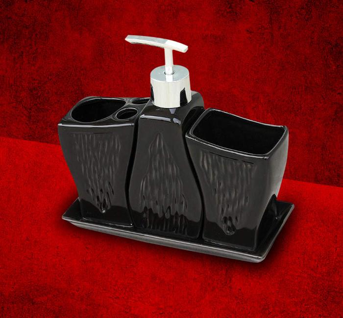 ARTTEC SET 1 - BLACK Série koupelnových doplňků