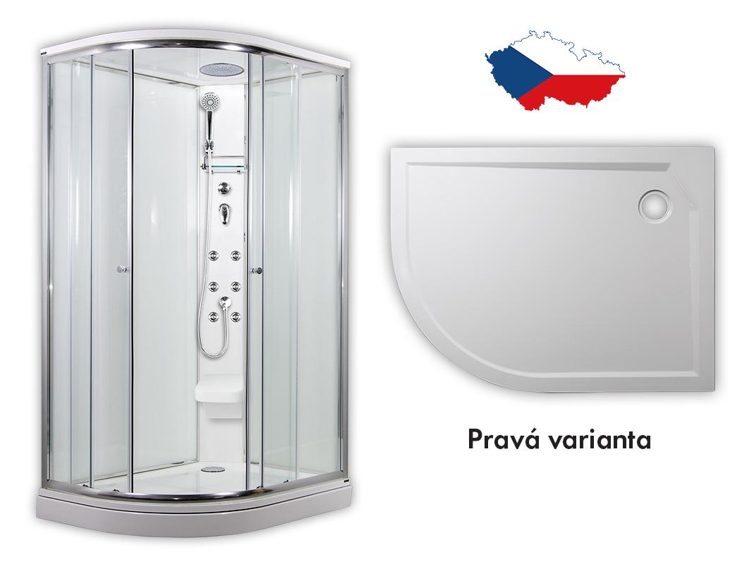 ARTTEC SIRIUS Masážní sprchový box model 5 clear pravá 117 x 88 cm PAN01273