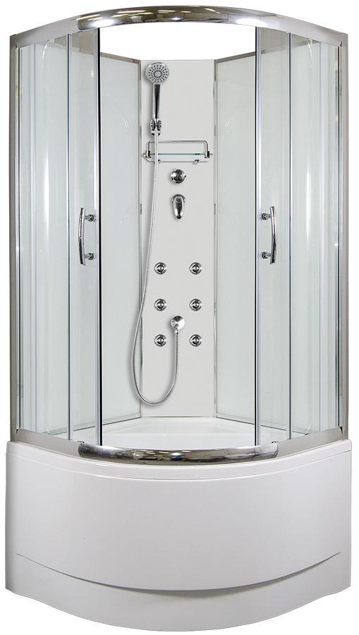 ARTTEC CALYPSO Masážní sprchový box model 4 clear 90 x 90 cm PAN04429