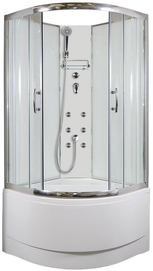 ARTTEC CALYPSO Masážní sprchový box model 4 chinchila 90 x 90 cm PAN04430