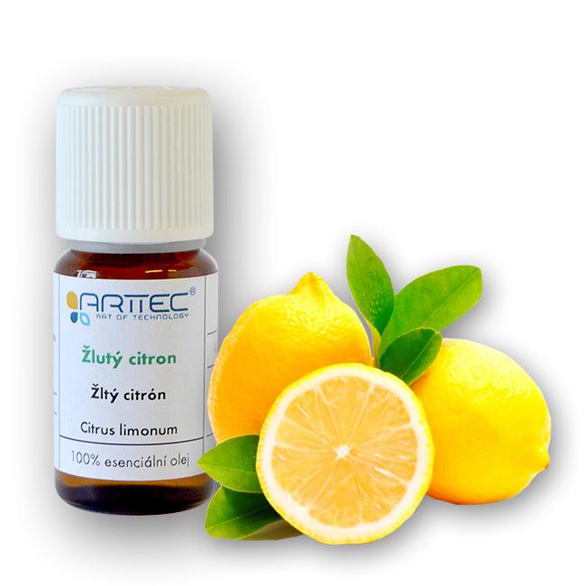 ARTTEC Žlutý citron bio Esenciální olej 10 ml NAT00040