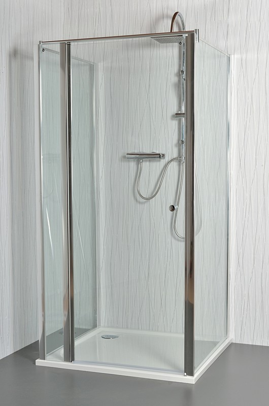 ARTTEC MOON E11 - Sprchový kout nástěnný clear  86 - 91 x 76,5 - 78 x 195 cm