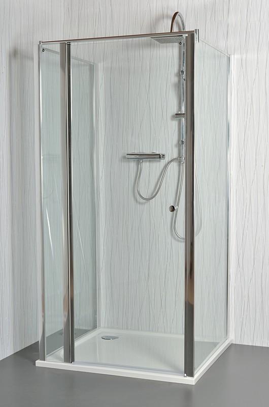 ARTTEC MOON E17 - Sprchový kout nástěnný grape 91 - 96 x 76,5 - 78 x 195 cm