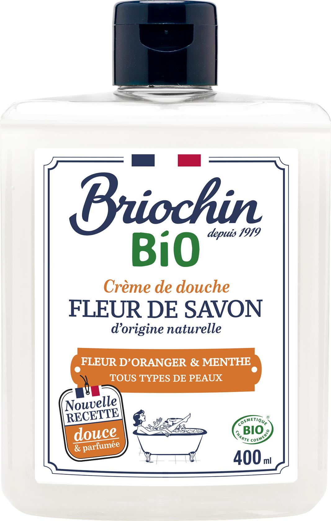 Briochin Fleur de savon Sprchový gel - květ pomerančovníku a máta, 400ml