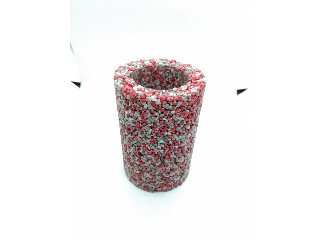 Malá Váza Šedo-červená