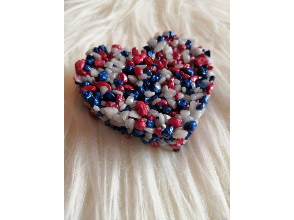 Malé Srdce dekorační trikolora